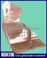 Unique design granite tombstone monument tombstone maker