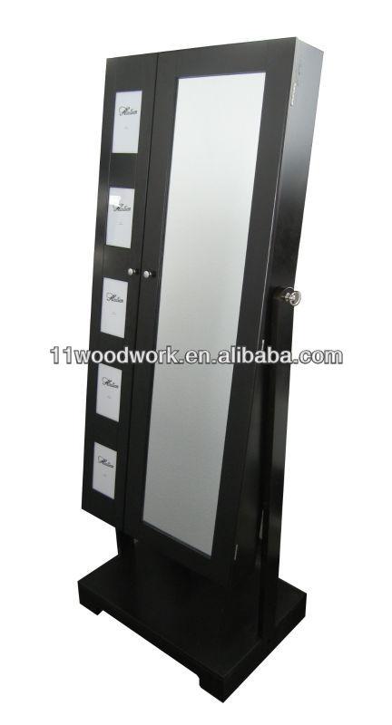 Miroir armoire bijoux avec deux porte c t gauche avec - Miroir avec porte bijoux ...