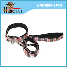 Pet Products Wholesale New Style Pet Printing Foam Soft Padded Sewed With Fabric Dog Collar & Leash