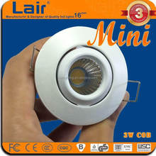 head moving small size led cabinet light