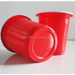 China Wholesale 7oz Disposable Red Colored Plastic Party Cups