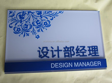 fancy and creative design acrylic nameplate for office different departments
