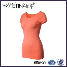 Professional Factory Sale! Seamless Knitted top for lady