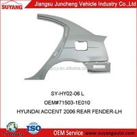 Car Spare Parts Hyundai Accent 2006 Rear Fenders