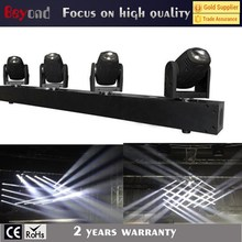 4 head 10w single white beam moving head disco light/led bar light