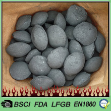 Fast ignition coal briquettes for bbq