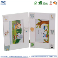 Factory supply new unfinished wooden photo frames design , wooden art and crafts photo frame for kids