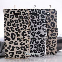 Leopard Styled Magnetic Leather Wallet Case for iPhone 6 4.7 inch