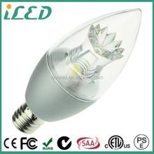 PSE ETL 4000K 5W 100V 220V COB Candle Light Daylight White Dimmable E17 LED Bulb
