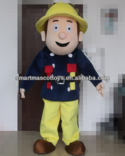 Good ventilation soft plush fireman sam mascot costume for adult fireman Sam mascot costume