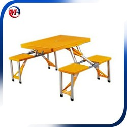 Outdoor camping portable folding table and chair set