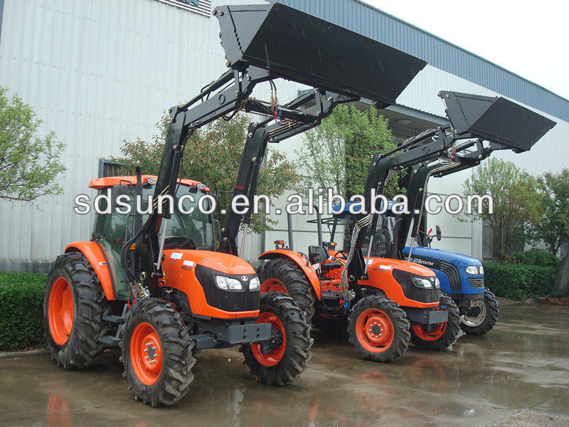 Kubota small garden tractor used front end loader backhoe with sd sunco 4 in 1 bucket loader for Small garden tractors with front end loaders