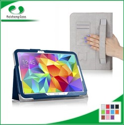 Hot sale PU leather case for iPad with Elastic hand strap Stand function tablet holster for Samsung Galaxy Tab S 10.5