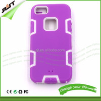 Wholesale hybrid PC+silicone phone case for iPhone 5/iPhone 5S