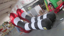 customized giant inflatable advertising , inflatable model of women red bottom heels
