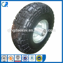 Environmental wheel ! Yinzhu manufacturer pu solid tyre 4.10/ 3.50-4 for wheel barrow