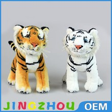 2015 OEM hot sale custom embroidered plush toy,tiger plush toy