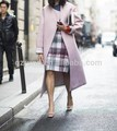 2015 A / W nueva Arrval elegante mujeres invierno llanura Coats larga delgada de lana mezclada abrigo abrigo escudo de One Piece