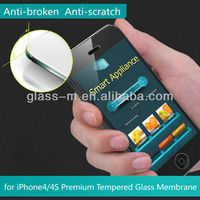 For Iphone4/4s Tempered Glass Mobile Phone Screen Cover