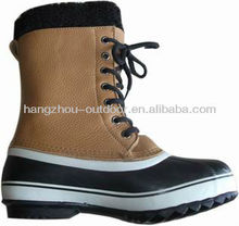 Mens Full Grain Leather Waterproof Pac Boots