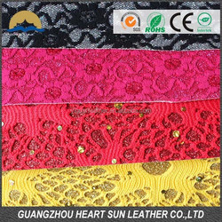 flower lace fabric for shoe making, lace fabric raw material by meter (cuero sinteticos para zapados)