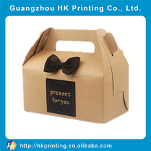 graceful food paper box packaging paper cake box with handle