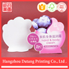 New clear design cheap custom grape shape hang tags for cosmetics