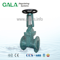 BS 5163 slab gate valve with long stem , flanged ductile iron manual slide water seal gate valve