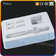 custom designed white blister flocking tray