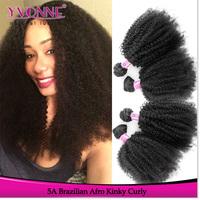 Brazilian Afro Kinky Curly Hair 100% Cheap Human Brazilian Hair Weaves