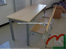 6 Seat Canteen Tables and Chairs with Exquisite Process