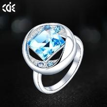 CDE Latset White Gold Finger Ring Designs for Men Couple Rings Jewelry