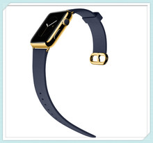 fashionable top quality genuine Leather band strap for Apple Watch with stainless steel connection