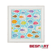 Fishes cartoon kids wall art picture for kids room wall deocration