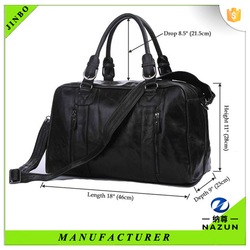 autumn and winter modern male black cow leather travel bags