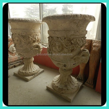 Design Stand Natural Stone Head Flower Pot