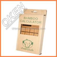 2015 top selling good quality Stylish bamboo solar calculator