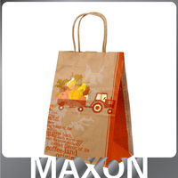 China factory supply recycle brown shopping paper kraft bag