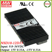 Meanwell NSD10-12D15 12v dc to 15v -15v dc converter