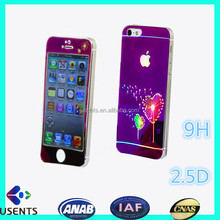 hot sale coloured film for Iphone Tempered Glass screen protector