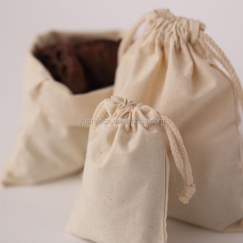 Yuanjie custom food grade small plain cotton bags,organic plain cotton picking bags wholesale