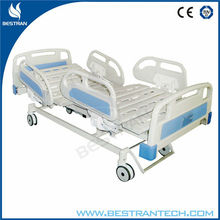 China BT-AE101 multi function hospital height adjustable electric medical patient clinical tilting bed with ABS side rails
