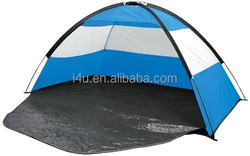 Red Beach Tent & Festival Shelter with Closing Door & Sand Pockets - SPF30 Sun Protection