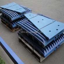 Metso high manganese steel crusher parts, crusher jaw plate, jaw plate