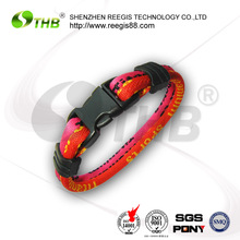 high class braided rubber magnetic sports bracelets