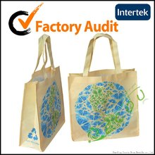 Recycled Pet printed non woven bag for shopping
