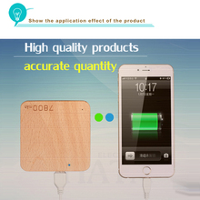 Hot saleing rechargeable Wood power bank PB-W7800