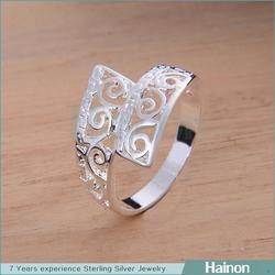 bulk new cheap silver rings 7 8 9 stock