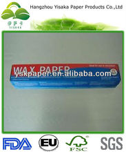 Customized Food Packaging Wax Paper Roll