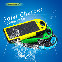 Sale Product Solar Power Bank Charger 5000mah Dual USB ports for Summer
